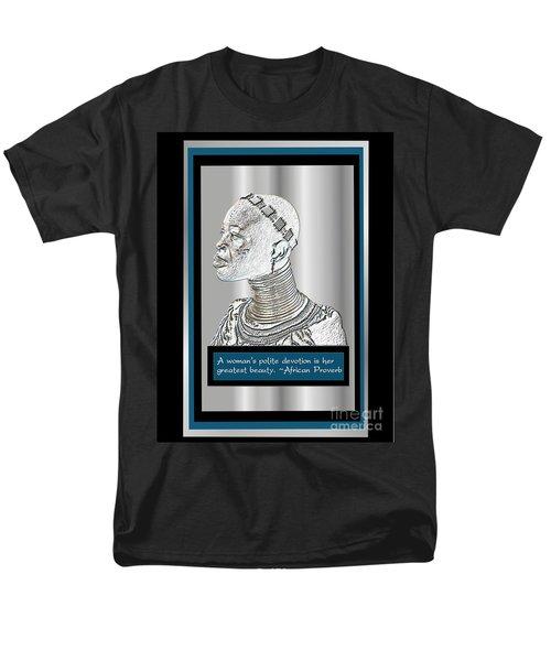 Men's T-Shirt  (Regular Fit) featuring the digital art A Sisters Portrait 2 by Jacqueline Lloyd