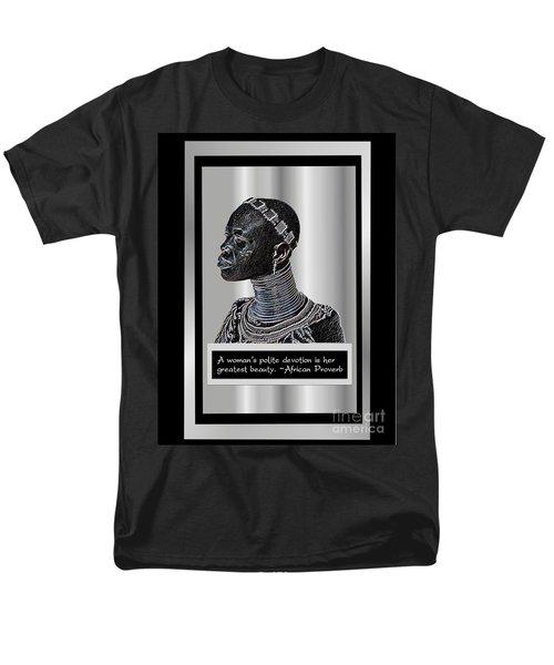 Men's T-Shirt  (Regular Fit) featuring the digital art A Sisters Portrait by Jacqueline Lloyd