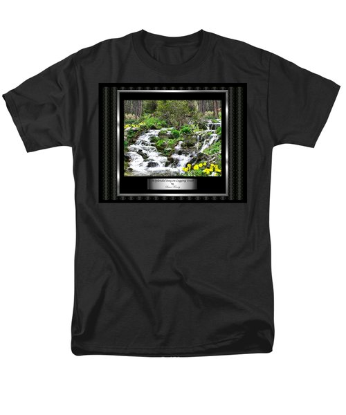 Men's T-Shirt  (Regular Fit) featuring the photograph A Splendid Day On Logging Creek by Susan Kinney