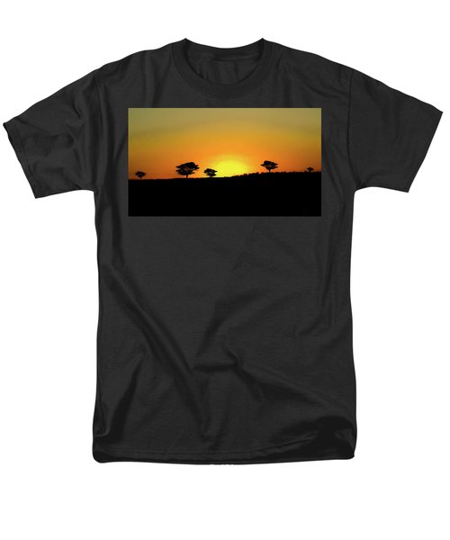 A Sunset In Namibia Men's T-Shirt  (Regular Fit) by Ernie Echols
