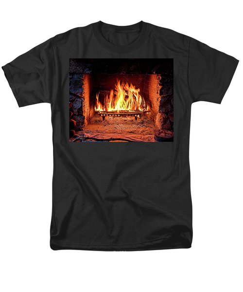 A Warm Hearth Men's T-Shirt  (Regular Fit) by Christopher Holmes