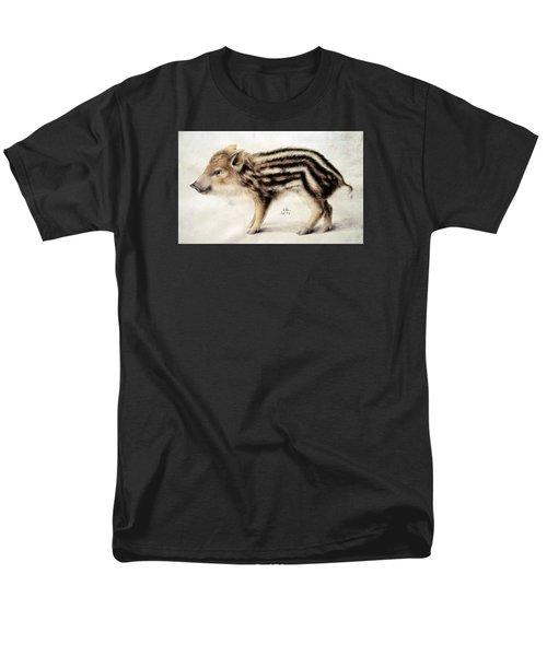 A Wild Boar Piglet Men's T-Shirt  (Regular Fit) by Hans Hoffmann