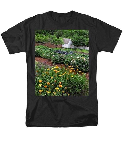 A Williamsburg Garden Men's T-Shirt  (Regular Fit) by Dave Mills