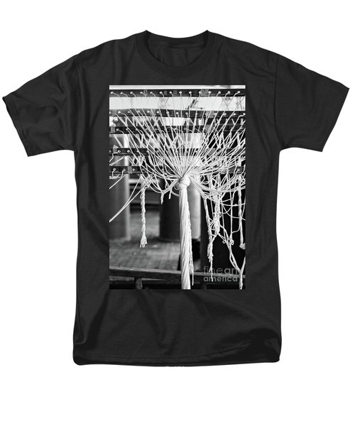 Men's T-Shirt  (Regular Fit) featuring the photograph Abandoned Textile Mill, Lewiston, Maine  -48692-bw by John Bald