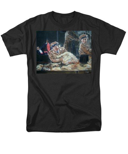 Men's T-Shirt  (Regular Fit) featuring the painting Abbott And Costello Meet Frankenstein by Bryan Bustard