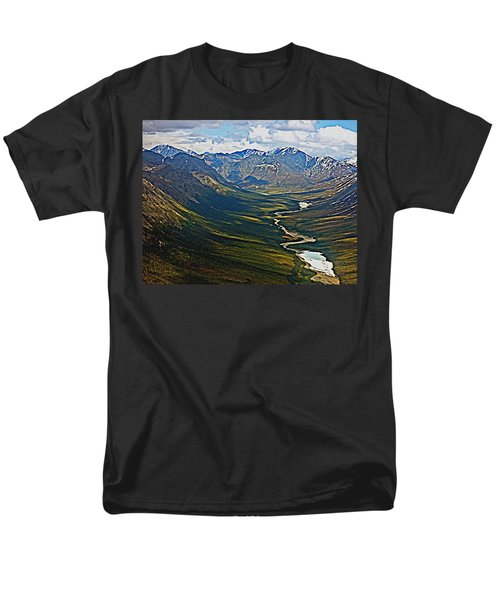 Men's T-Shirt  (Regular Fit) featuring the painting Above The Arctic Circle by John Haldane