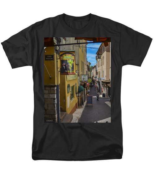 Men's T-Shirt  (Regular Fit) featuring the photograph Absinthe In Antibes by Allen Sheffield