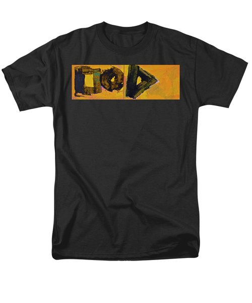 Abstract 2071-diptych Men's T-Shirt  (Regular Fit) by Cliff Spohn