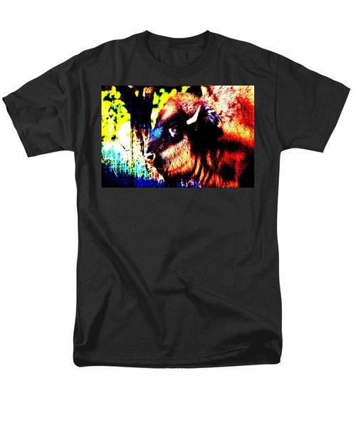 Abstract Buffalo Men's T-Shirt  (Regular Fit) by Lon Casler Bixby