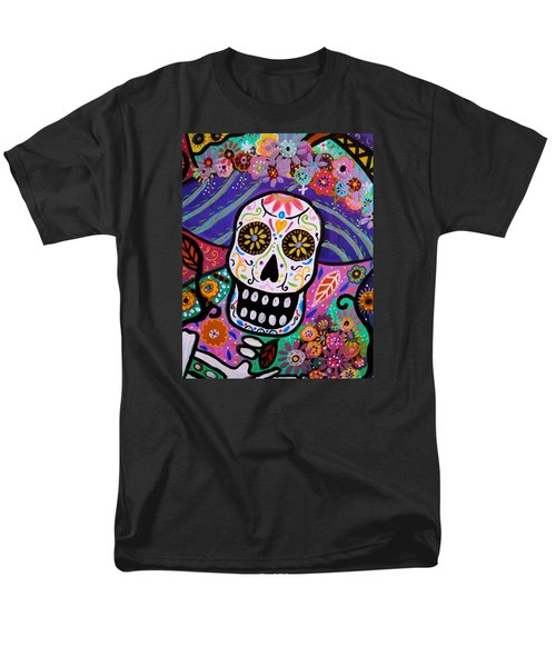 Men's T-Shirt  (Regular Fit) featuring the painting Abstract Catrina by Pristine Cartera Turkus