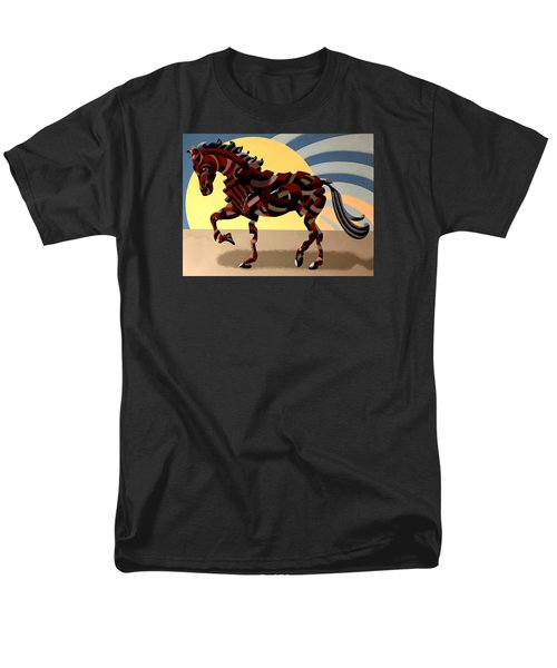Abstract Geometric Futurist Horse Men's T-Shirt  (Regular Fit) by Mark Webster