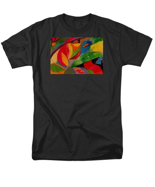 Men's T-Shirt  (Regular Fit) featuring the drawing Abstract No. 5 Springtime by Maria  Disley