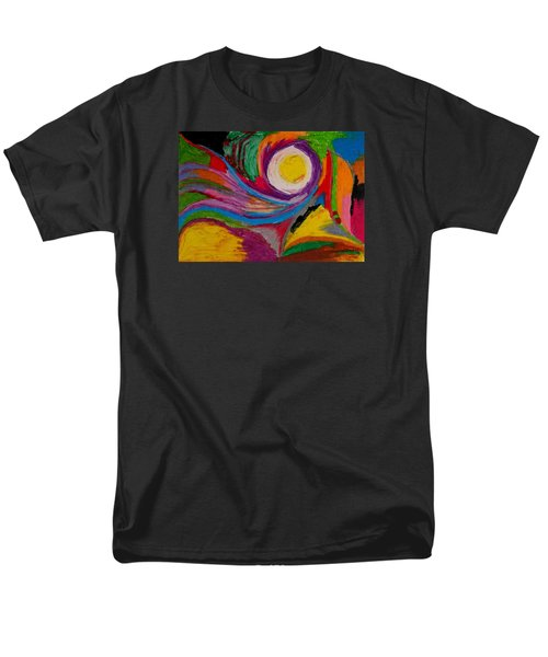 Men's T-Shirt  (Regular Fit) featuring the drawing Abstract No.6 Innerlandscape by Maria  Disley