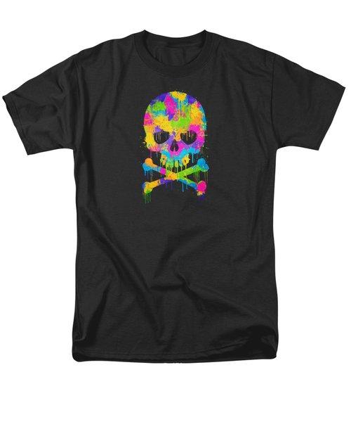 Abstract Trendy Graffiti Watercolor Skull  Men's T-Shirt  (Regular Fit) by Philipp Rietz