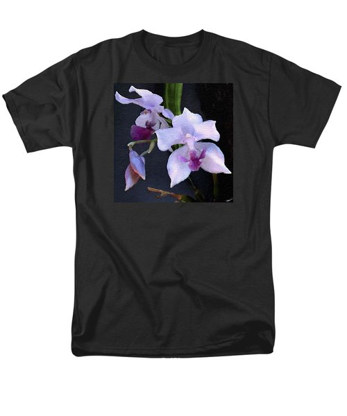 Acacallis Cyanea. Orchid Men's T-Shirt  (Regular Fit) by Anthony Fishburne