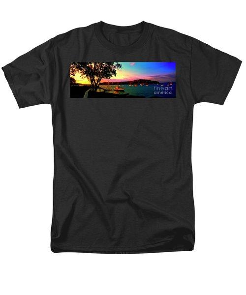 Men's T-Shirt  (Regular Fit) featuring the photograph  Acadia Bar Harbor Sunset Cruises by Tom Jelen