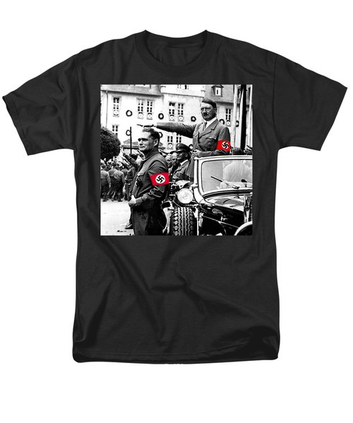 Adolf Hitler Giving The Nazi Salute From A Mercedes #3 C. 1934-2015 Men's T-Shirt  (Regular Fit) by David Lee Guss