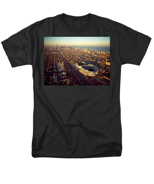 Aerial View Of A City, Old Comiskey Men's T-Shirt  (Regular Fit) by Panoramic Images