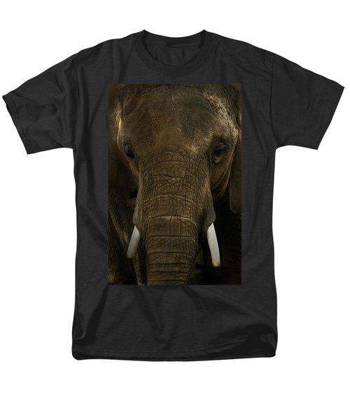 Men's T-Shirt  (Regular Fit) featuring the photograph African Elephant by Michael Cummings