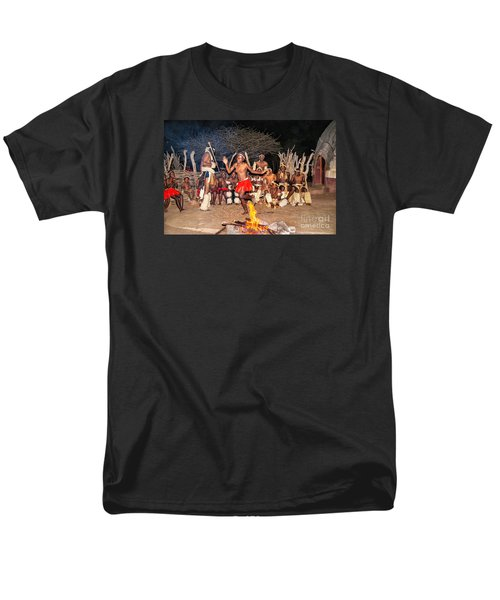 Men's T-Shirt  (Regular Fit) featuring the photograph African Fire Dance by Rick Bragan