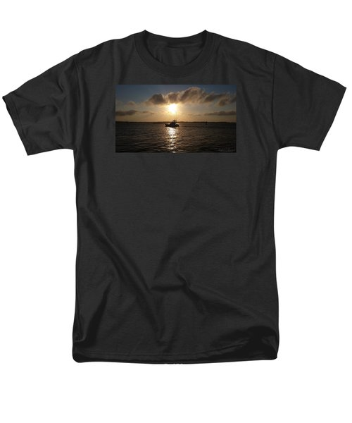 Men's T-Shirt  (Regular Fit) featuring the photograph After A Long Day Of Fishing by Robert Banach