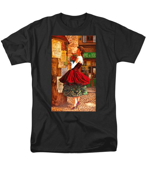 Men's T-Shirt  (Regular Fit) featuring the painting After The Ball by Igor Postash
