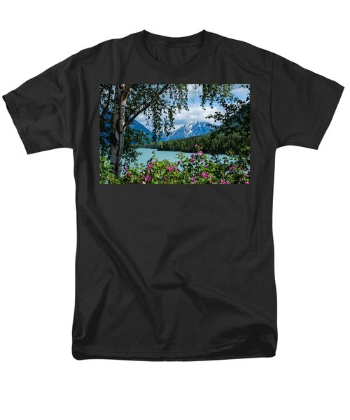 Alaska Through The Trees Men's T-Shirt  (Regular Fit) by John McArthur