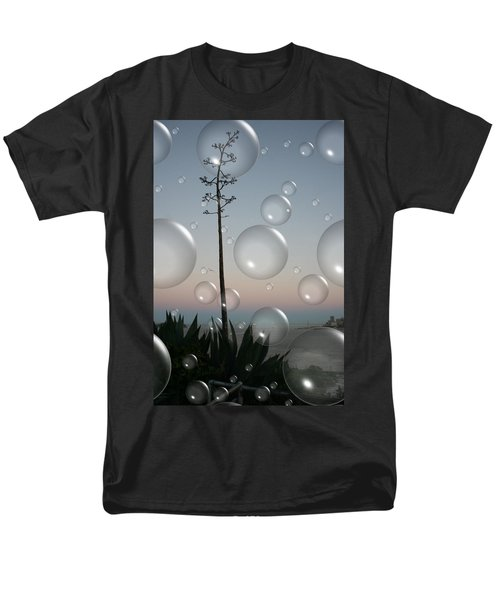 Men's T-Shirt  (Regular Fit) featuring the digital art Alca Bubbles by Holly Ethan