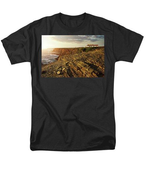 Men's T-Shirt  (Regular Fit) featuring the photograph Alentejo Cliffs by Carlos Caetano