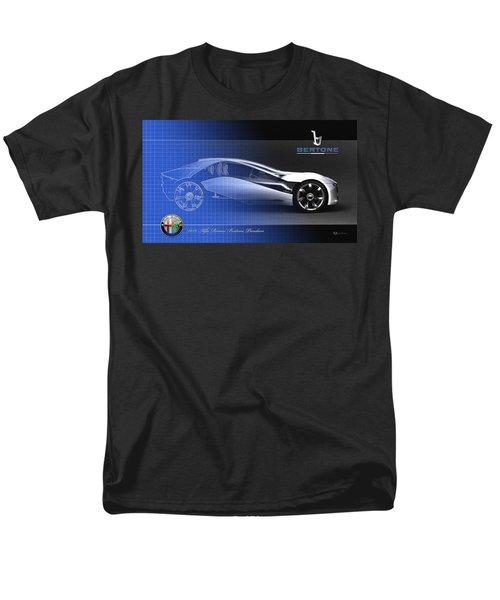 Alfa Romeo Bertone Pandion Concept Men's T-Shirt  (Regular Fit) by Serge Averbukh