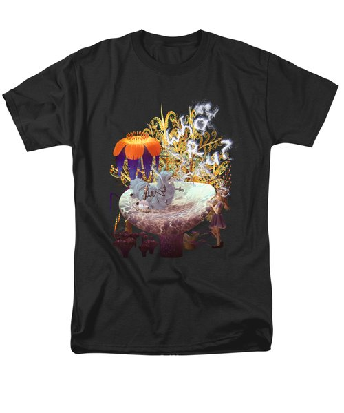 Alice N The Hookah Caterpillar Men's T-Shirt  (Regular Fit) by Methune Hively