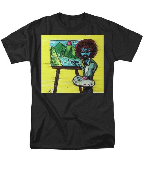 alien Bob Ross Men's T-Shirt  (Regular Fit)