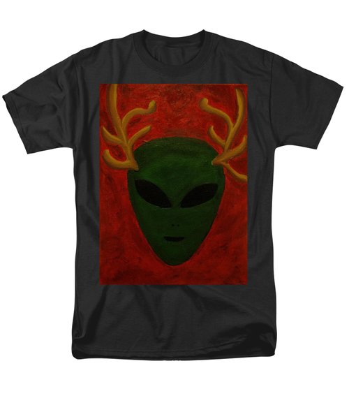 Men's T-Shirt  (Regular Fit) featuring the painting Alien Deer by Lola Connelly