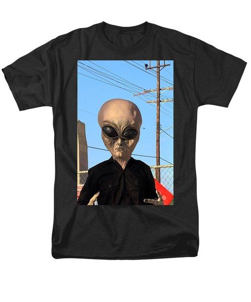 Alien Face At 6th Street Bridge Men's T-Shirt  (Regular Fit) by Viktor Savchenko