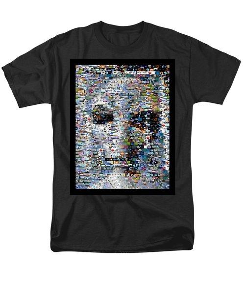 Men's T-Shirt  (Regular Fit) featuring the mixed media Alien Ufo Mosaic by Paul Van Scott