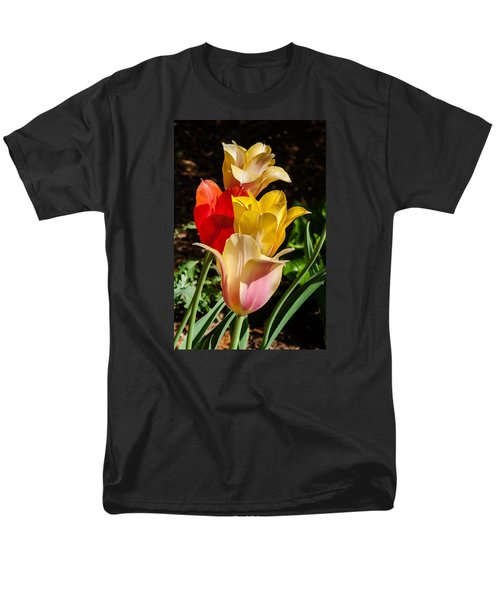 Men's T-Shirt  (Regular Fit) featuring the photograph All In A Pretty Row by Jim Moore