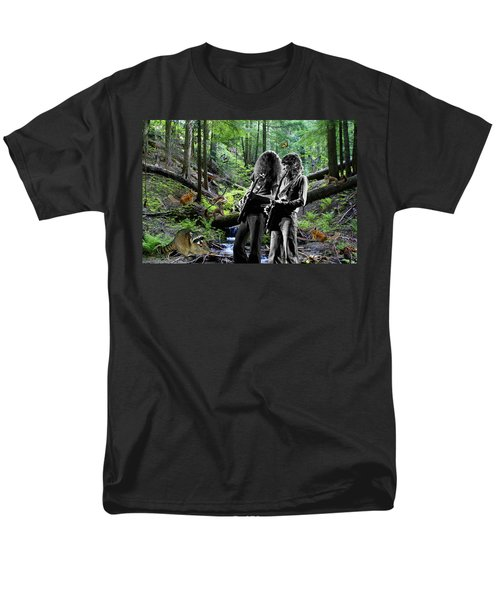 Men's T-Shirt  (Regular Fit) featuring the photograph Allen And Steve Jam With Friends On Mt. Spokane by Ben Upham