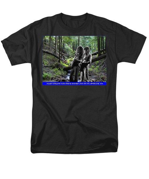 Men's T-Shirt  (Regular Fit) featuring the photograph Allen And Steve On Mt. Spokane by Ben Upham