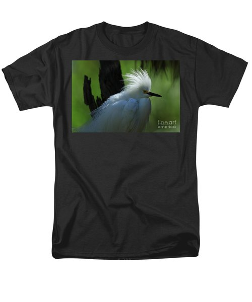 Men's T-Shirt  (Regular Fit) featuring the photograph Alligator Farm Snowy Egret by Deborah Benoit