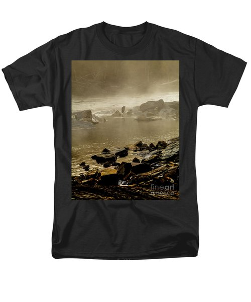 Men's T-Shirt  (Regular Fit) featuring the photograph Alone In The Mist by Iris Greenwell
