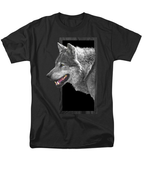 Alpha Male Wolf - You Look Tasty Men's T-Shirt  (Regular Fit) by Gill Billington