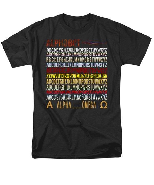 Men's T-Shirt  (Regular Fit) featuring the digital art Alphabet by Jutta Maria Pusl