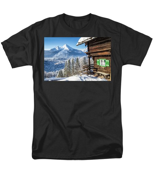 Alpine Winter Wonderland Men's T-Shirt  (Regular Fit) by JR Photography