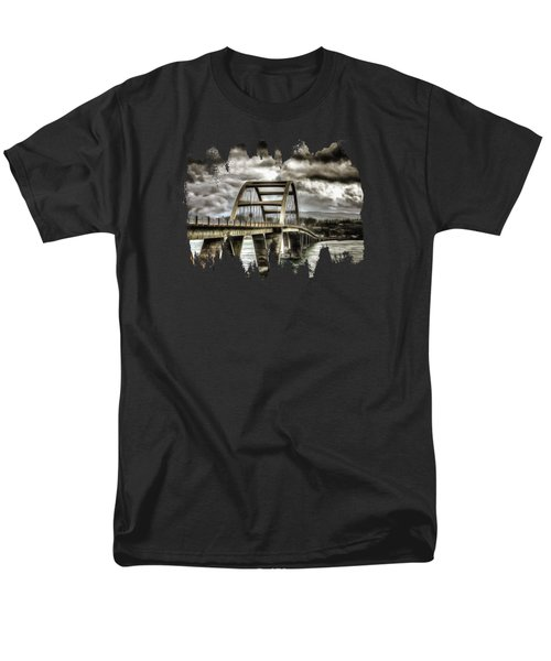 Alsea Bay Bridge Men's T-Shirt  (Regular Fit) by Thom Zehrfeld