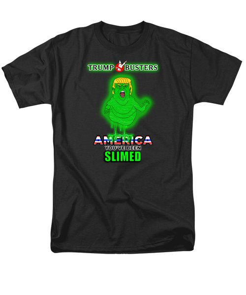 America, You've Been Slimed Men's T-Shirt  (Regular Fit) by Sean Corcoran