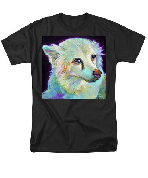 Men's T-Shirt  (Regular Fit) featuring the painting American Eskimo by Robert Phelps