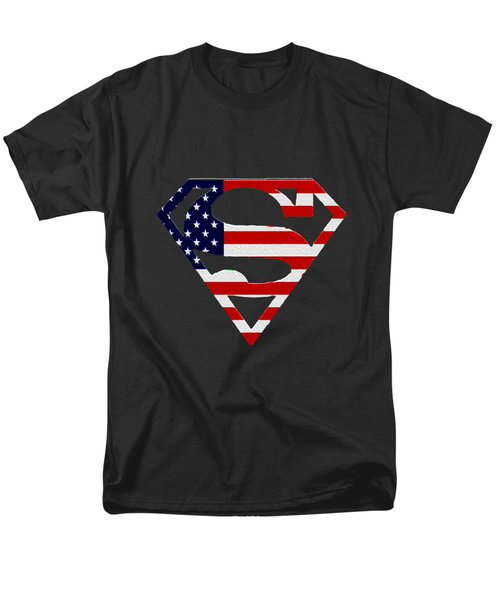 American Flag Superman Shield Men's T-Shirt  (Regular Fit) by Bill Cannon
