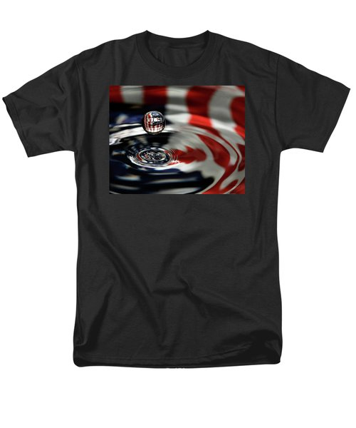 Men's T-Shirt  (Regular Fit) featuring the photograph American Water Drop by Betty Denise