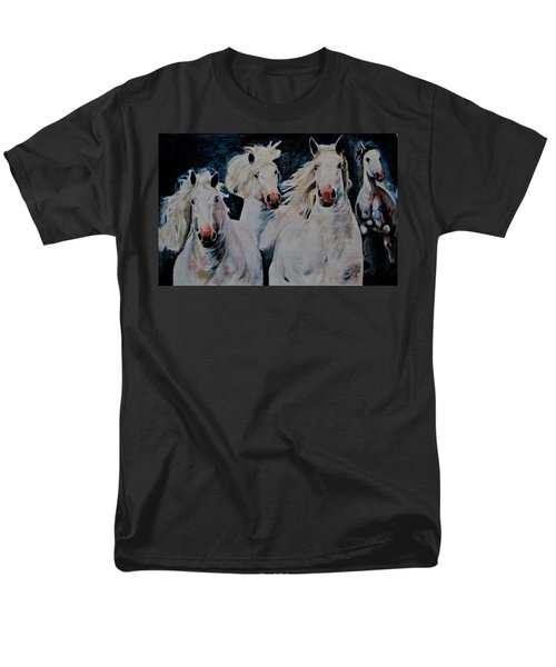 American White Men's T-Shirt  (Regular Fit) by Khalid Saeed