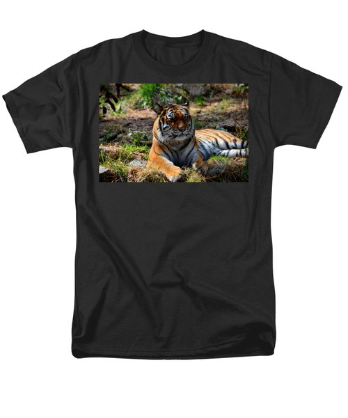 Men's T-Shirt  (Regular Fit) featuring the mixed media Amur Tiger 10 by Angelina Vick